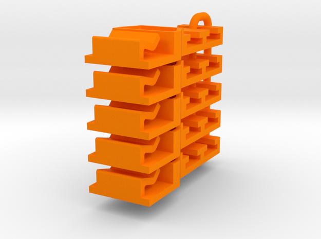 PS8000101_5 Leitplankenhalter für Carrera 124 in Orange Processed Versatile Plastic