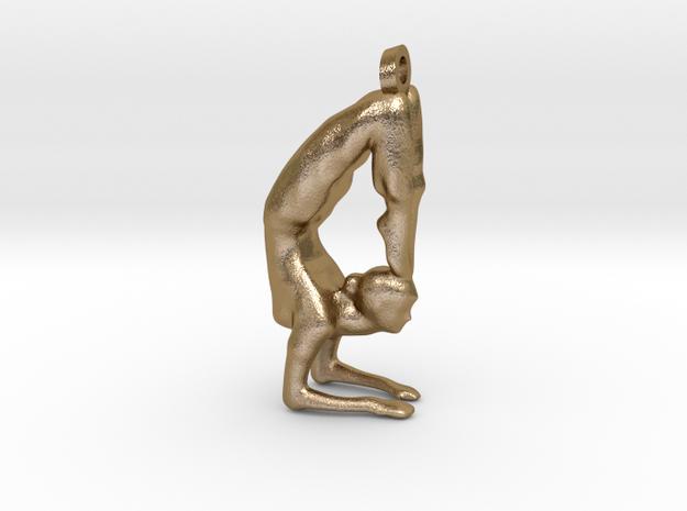 yoga jewelry - Vrischikasana in Polished Gold Steel