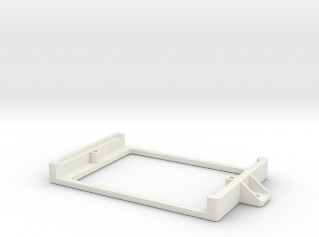 Half Sized Proto PCB Board Holder in White Natural Versatile Plastic