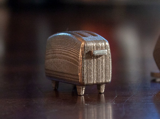 Toasty [Idle] in Polished Bronzed-Silver Steel