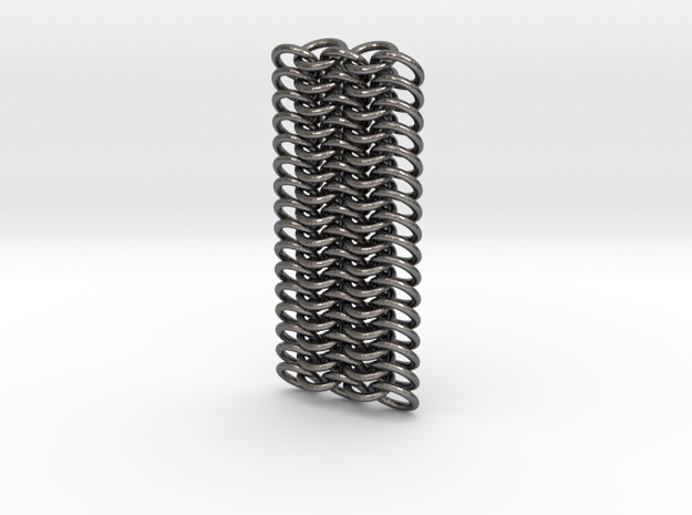 Omega Chainmail in Polished Nickel Steel