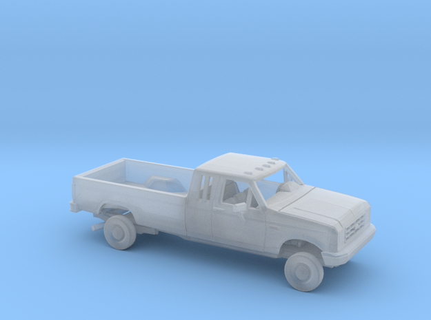 1/87 1987- 91 Ford F-Series Ext. Cab Long Bed Kit in Smooth Fine Detail Plastic