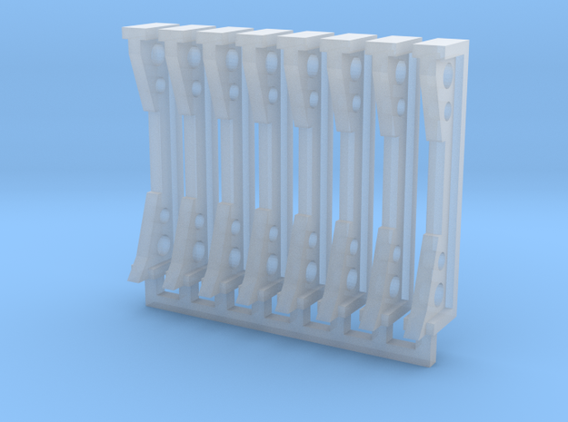 Stanchions V2 in Smooth Fine Detail Plastic