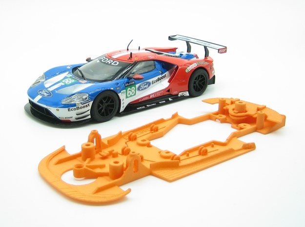 PSSX00801 Chassis for Scalextric Ford GT GTE in White Natural Versatile Plastic