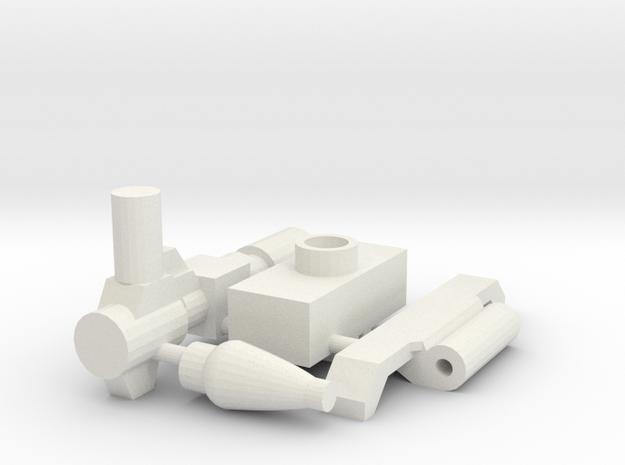 TF WFC Siege - Hound G1 Cartoon Kit in White Natural Versatile Plastic