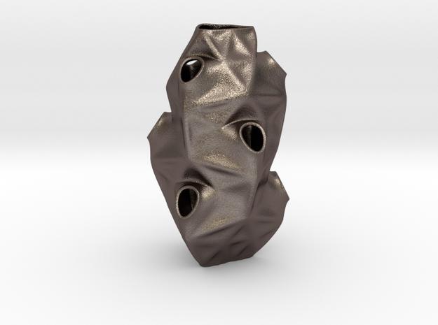 Tesq Origin in Polished Bronzed-Silver Steel