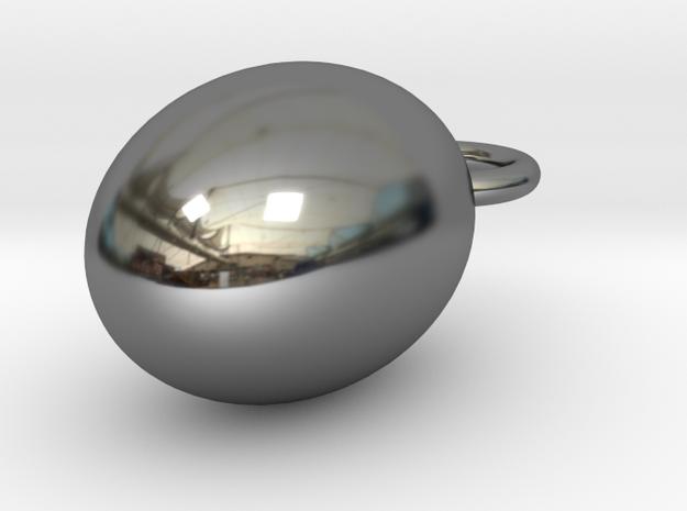 golden egg cabochon 2 in Fine Detail Polished Silver