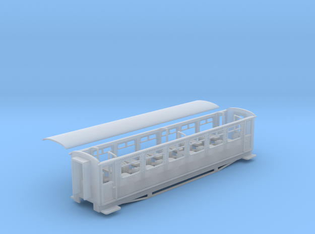 Ffestiniog Rly aluminium 3rd coach NO.116 in Smooth Fine Detail Plastic