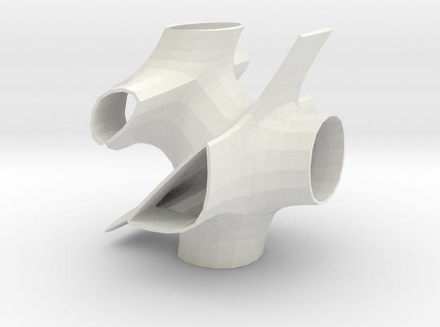 Vorospace Sculpture 4 in White Natural Versatile Plastic