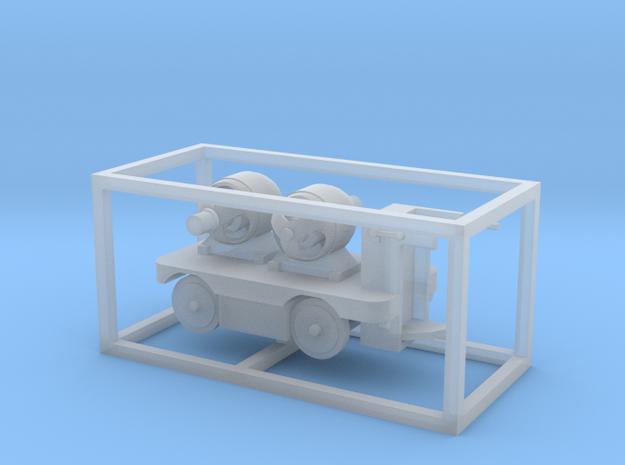E-Karren Flachwagen 2 E-Motor - 1:120 TT in Smooth Fine Detail Plastic