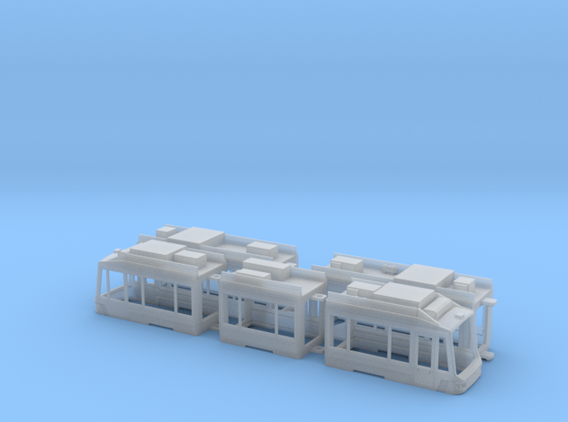 Rhein-Neckar Variobahn V6 in Smooth Fine Detail Plastic: 1:120 - TT