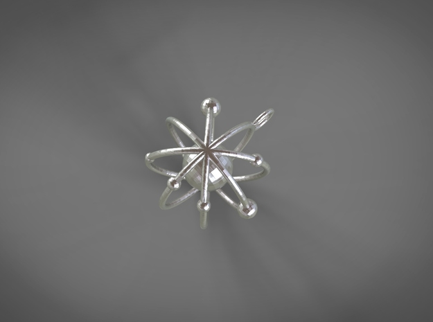 nuclea in Rhodium Plated Brass