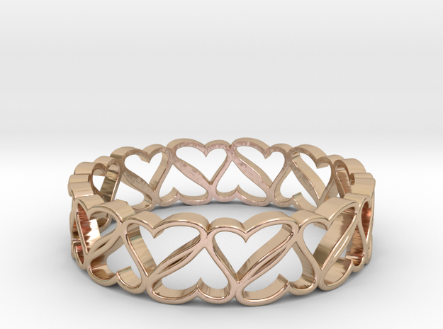 Rotating Hearts in 14k Rose Gold Plated Brass: 6 / 51.5