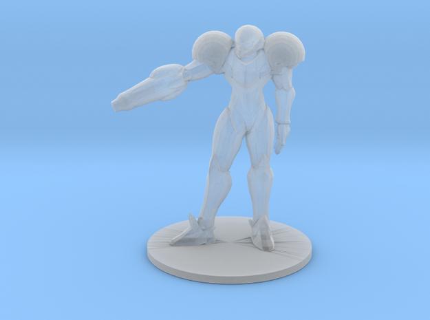 Metroid Samus 1/60 miniature for scifi games rpg in Smooth Fine Detail Plastic