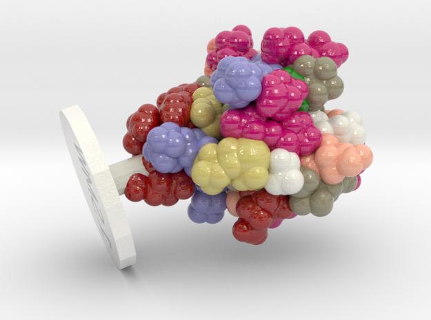 ProteinScope-1SMW-DA93F619 in Glossy Full Color Sandstone