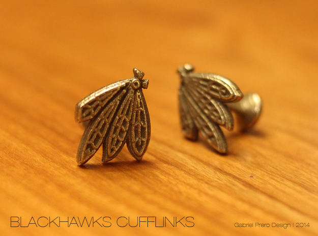 Chicago Blackhawks Cufflinks 3d printed