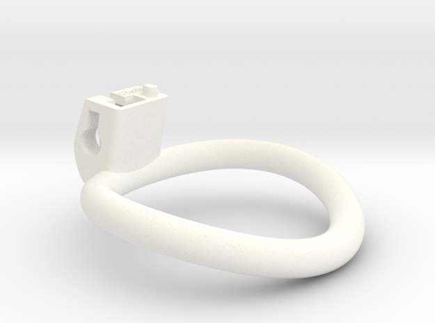 Cherry Keeper Wide Oval Ring - 53mmx48mm in White Processed Versatile Plastic