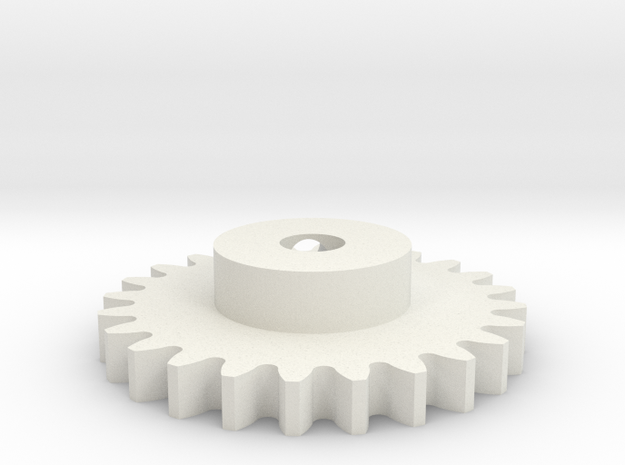 03.02.05.13 Elevator Driver Gear in White Natural Versatile Plastic
