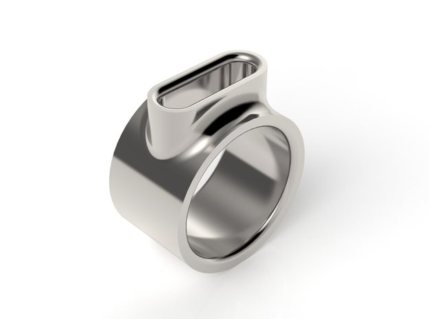EYELET RING - SIZE 8 in Fine Detail Polished Silver