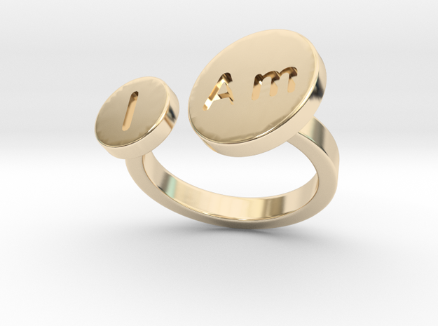 I Am Ring - Bold in 14k Gold Plated Brass: 6 / 51.5