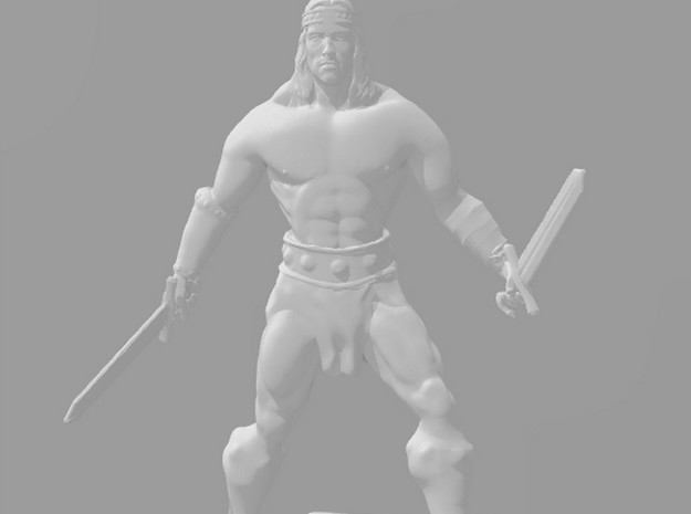 Conan 1/60 miniature for fantasy & rpg games in Smooth Fine Detail Plastic