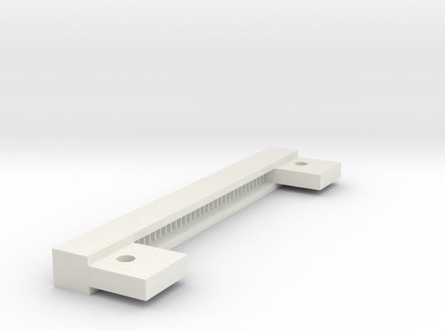 08.01.06.02.05 Rack 24 Teeth in White Natural Versatile Plastic