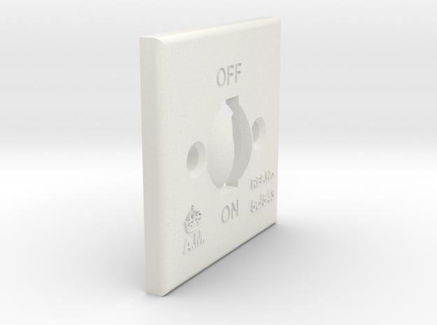 08.02.09.01.01 Switch Cover in White Natural Versatile Plastic