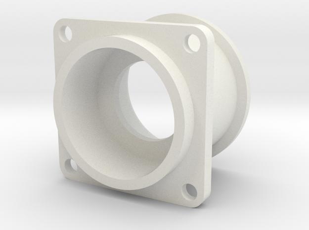 08.02.09.04.01 Pushbutton Holder (1) in White Natural Versatile Plastic