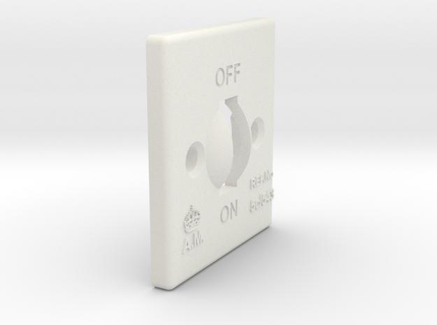 08.04.08.02.01 Switch Cover in White Natural Versatile Plastic