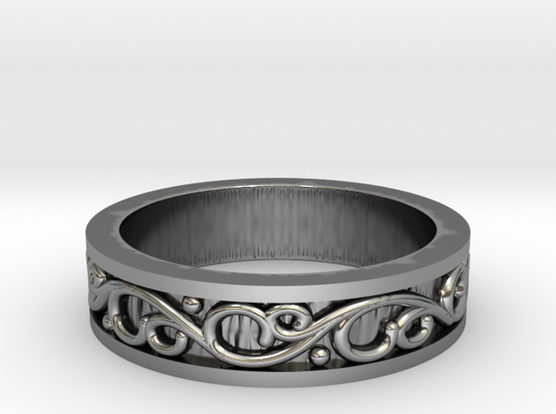Scroll Band in Antique Silver