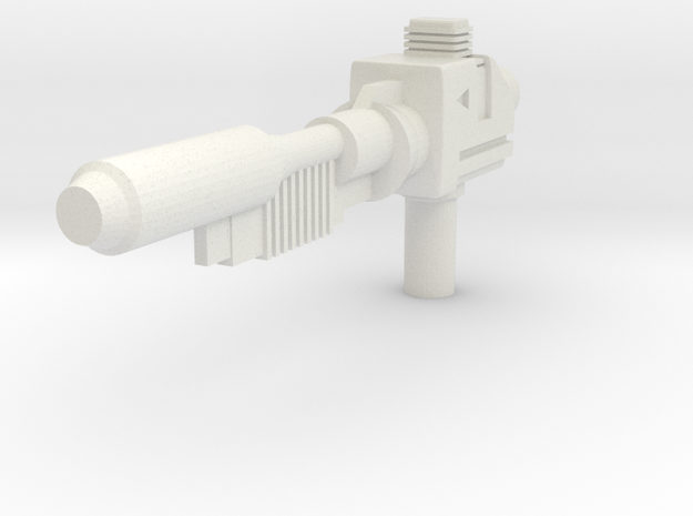 Transformers Classics Sideswipe Flare Rifle in White Natural Versatile Plastic