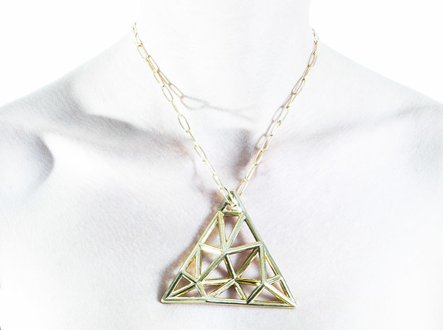 DATA IN EXILE — Tessellate Pendant 3d printed As worn.