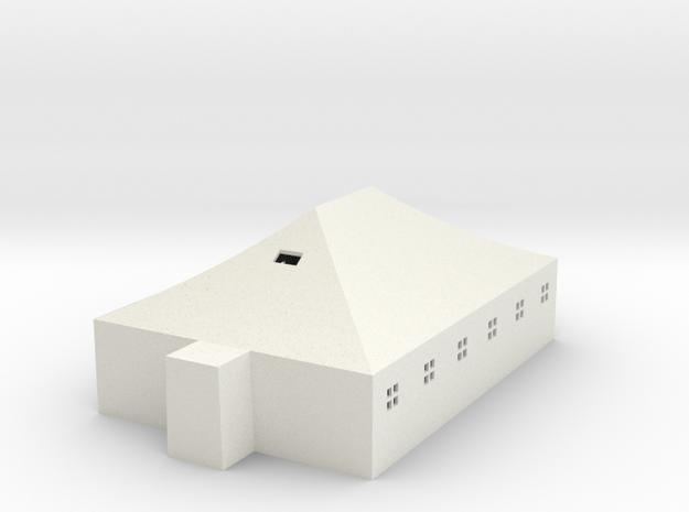Tent w/ windows 8,85m x 5,85m 1:87 scale 20190221c in White Natural Versatile Plastic