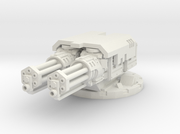 complete cannon mount for assault cannons - 28mm S in White Natural Versatile Plastic