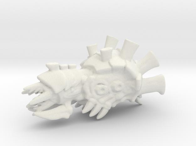 Heavy Carpac Cruiser - Concept D in White Natural Versatile Plastic