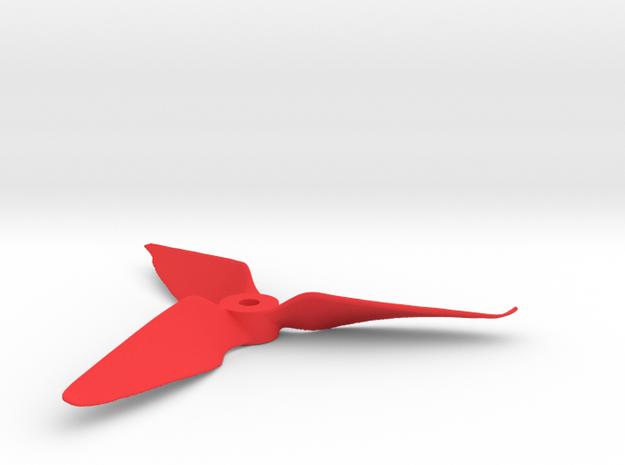 "Drone Propeller - 5"" CW Puller in Red Processed Versatile Plastic"