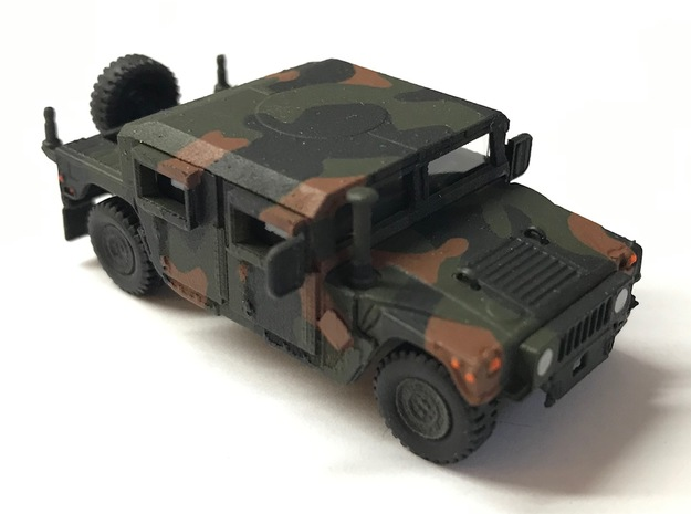 M1165 Humvee Armor With Spare Tire Bumper in Smooth Fine Detail Plastic