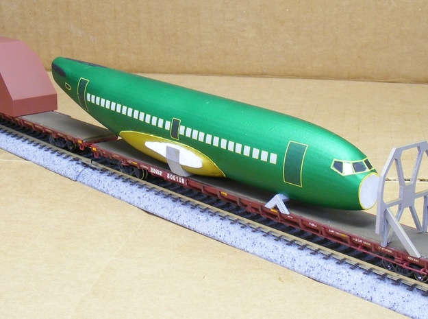 Boeing 737 Parts for Flatcar - Nscale 3d printed Painting and Photo by Jeff King