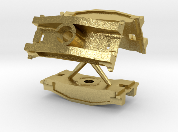 S Scale PRR 2D-T4 Brass Bolster Beam 3 PK in Natural Brass