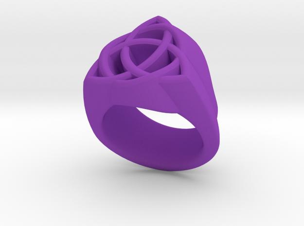 Triquetra Ring in Purple Processed Versatile Plastic