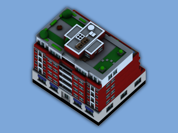 Chicago Set 1 Residential Building 3 x 2 3d printed