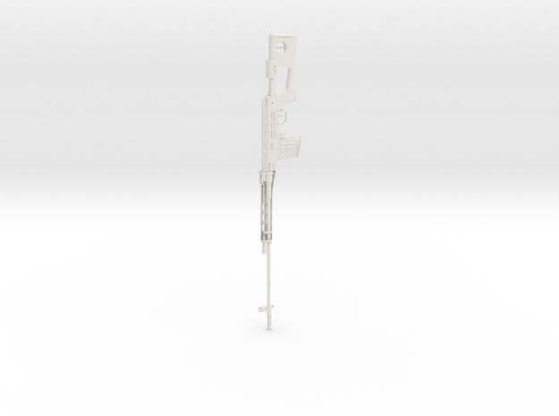 1:12 SVD Dragunov Sniper Rifle in White Natural Versatile Plastic: 1:12