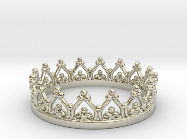 Princess/ Queen Crown in 14k White Gold