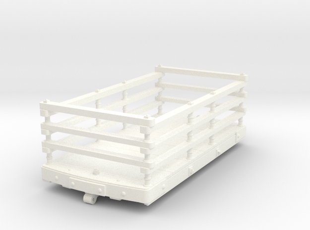 FRB12 FR Wooden Slate Wagon (Inside Bearing) SM32 in White Processed Versatile Plastic