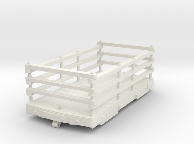 FRB03 - FR Wooden 2 Ton Slate Wagon Body SM32 in White Natural Versatile Plastic