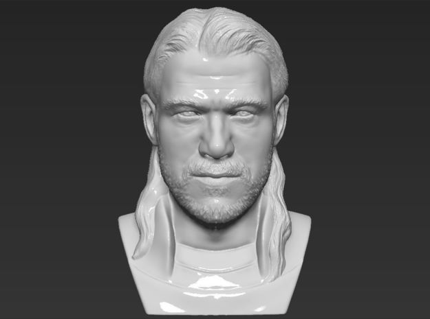 Thor bust in White Natural Versatile Plastic
