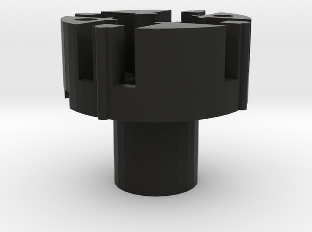 HATSWITCH_BASE_8WAY in Black Natural Versatile Plastic
