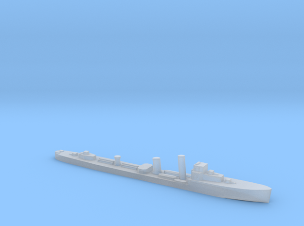 HMS Wessex 1:2400 WW2 naval destroyer in Smoothest Fine Detail Plastic