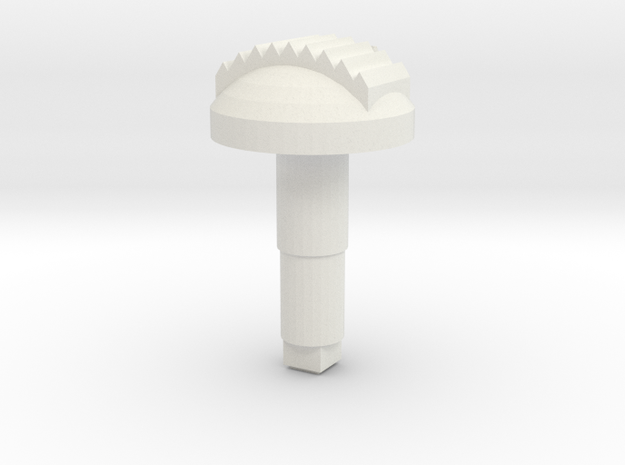 STEM_3WAY_DOME_2_TTOOTH in White Natural Versatile Plastic