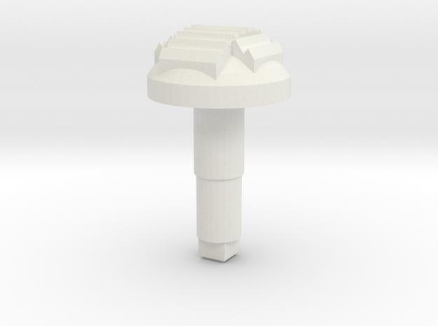 STEM_4WAY_DOME_2_CROSS_TMS in White Natural Versatile Plastic